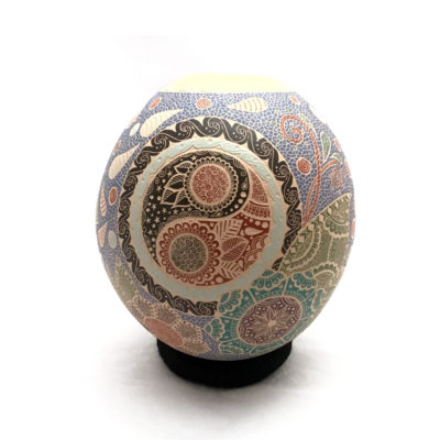 Geometric Shelyz Amaya: Beautiful Yin/Yang Pot Mata Ortiz Pottery