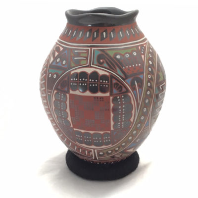 Mata Ortiz Pottery, Chihuahua Naty Ortega: Medium Pot Mata Ortiz Pottery
