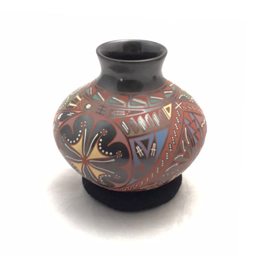Cesar Dominguez Nunez Cesar Dominguez Nuñez: Colorful Mid-sized Pot Mata Ortiz Pottery