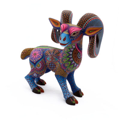 Oaxacan Wood Carving Luis Sosa Calvo: Ram Bighorn Sheep
