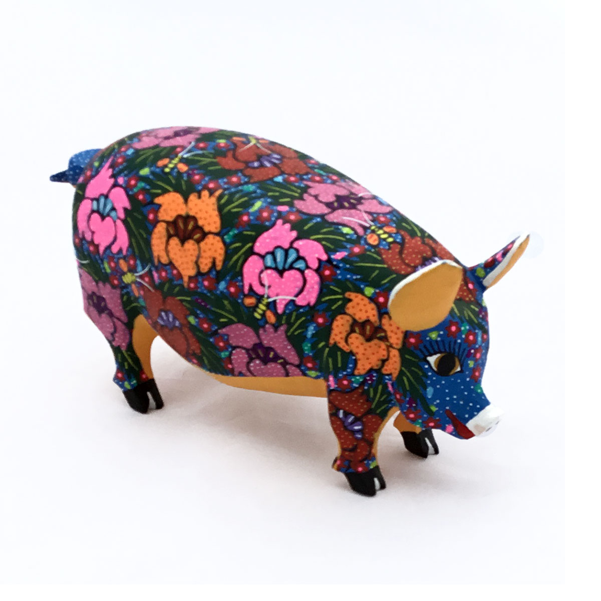 Candido Jimenez Ojeda Candido Jimenez Ojeda: Pig with Flowers Pig