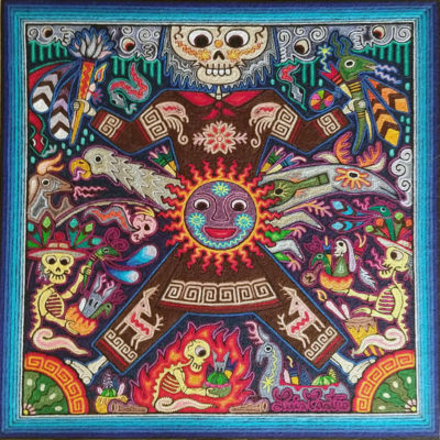 Wixárika (Huichol) Art Luis Castro 24×24: Premier Huichol Yarn Painting Direct from Mexico Huichol