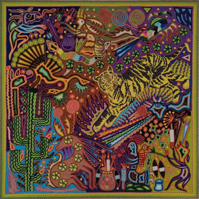 Wixárika (Huichol) Art Justo Benitez: Premier Huichol Yarn Painting Direct from Mexico Huichol
