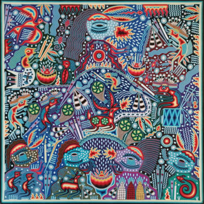 Wixárika (Huichol) Art Maximino Renteria: Premier Huichol Yarn Painting Direct from Mexico Huichol