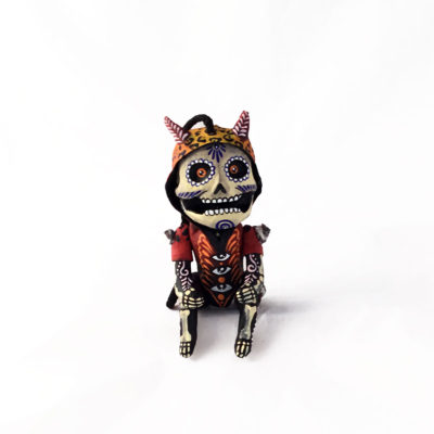 Cartoneria (Mexican Paper Mache) Isaias Alejandro Morales Delgado: Hanging and Posable Day of the Dead Figure cartoneria