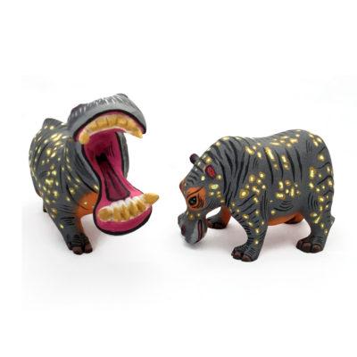 Eleazar Morales Eleazar Morales: Mother Hippo and Baby African Animals