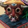 Cartoneria (Mexican Paper Mache) Isaias Alejandro Morales Delgado: Guerrero Youali – Night Warrior cartoneria