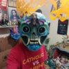 """Cartoneria (Mexican Paper Mache) Isaias Alejandro Morales Delgado: Handmade Mask """"Contemplation"""" cartoneria"""