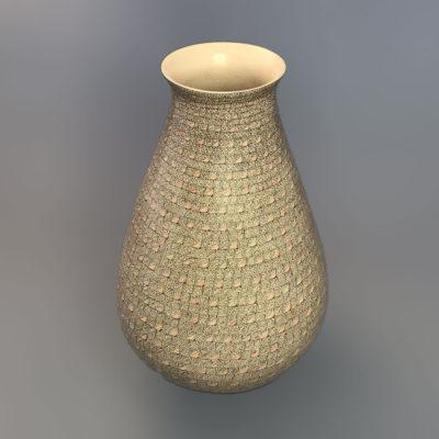 Oralia Lopez Oralia Lopez: Tall Fine Geometric Vase Geometric