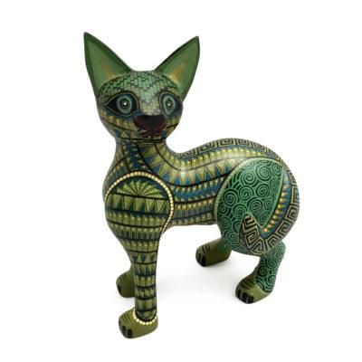 Women Artists Rosaura O.S. – Small Fine Green Cat Cat