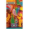 Wixárika (Huichol) Art Santos Daniel: Premier 48″ x 48″ Huichol Yarn Painting Direct from Mexico Huichol