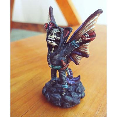 Cartoneria (Mexican Paper Mache) Isaias Alejandro Morales Delgado: Miniature Night Flyer Alebrijes