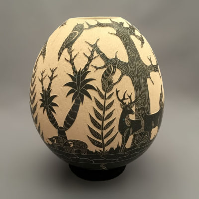 David Bejarano David Bejarano: Nature Scene Dear and Birds Mata Ortiz Pottery
