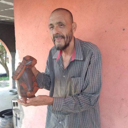 Nicolas Ortiz Nicolas Ortiz Sr: Black on Red Special Order Rabbit Effigy Effigy