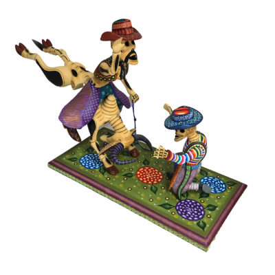Agustín Cruz Prudencio Agustín Cruz Prudencio: Showcase Large Day of the Dead Rodeo Scene Day of the Dead