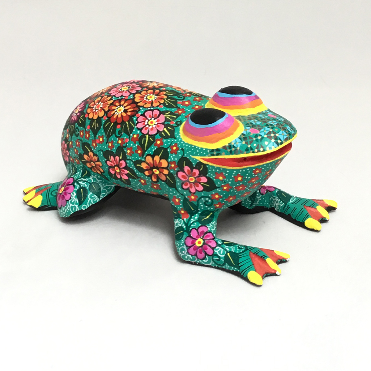 Candido Jimenez Ojeda Candido Jimenez Ojeda: Floral Frog Alebrijes